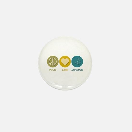 Peace Love Acupuncture Mini Button