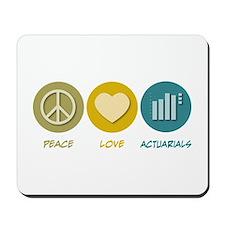 Peace Love Actuarials Mousepad