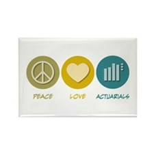 Peace Love Actuarials Rectangle Magnet