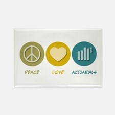 Peace Love Actuarials Rectangle Magnet