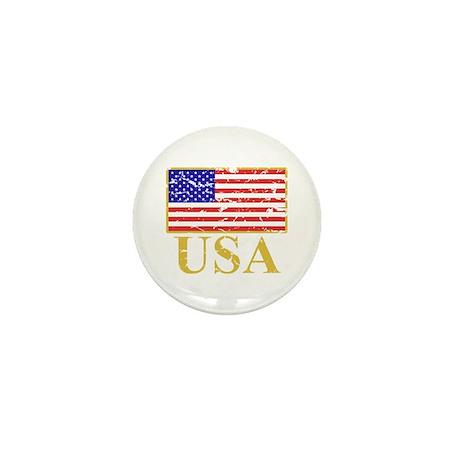 USA Flag (worn) Mini Button