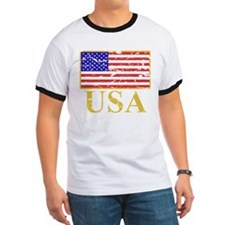 USA Flag (worn) T