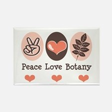 Peace Love Botany Botanist Rectangle Magnet