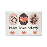 Peace Love Botany Botanist Rectangle Magnet (10 pa