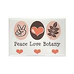 Peace Love Botany Botanist Rectangle Magnet (100 p