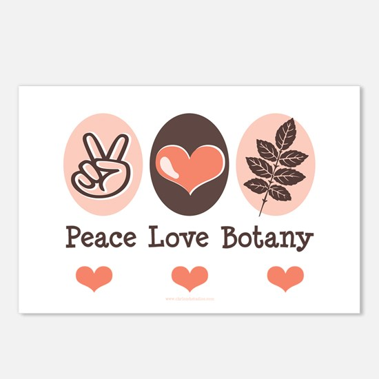 Peace Love Botany Botanist Postcards (Package of 8