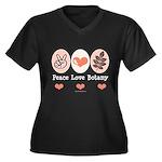 Peace Love Botany Botanist Women's Plus Size V-Nec