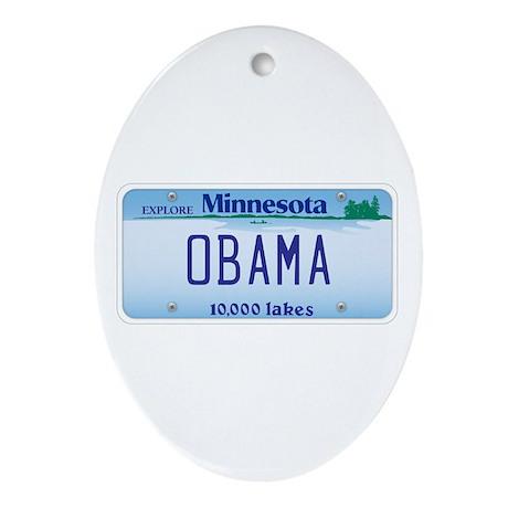 Minnesota Supports Obama Oval Ornament