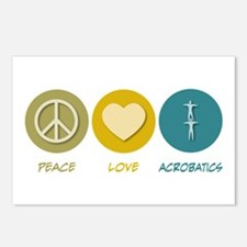 Peace Love Acrobatics Postcards (Package of 8)