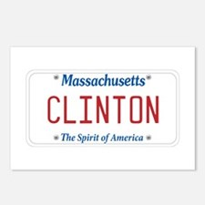 Massachusetts Supports Clinton Postcards (Package