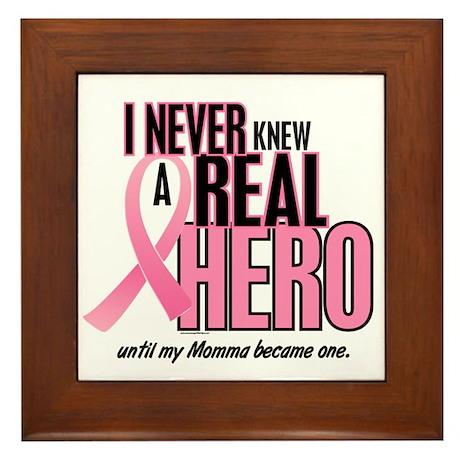 Never Knew A Hero 2 (Momma) Framed Tile