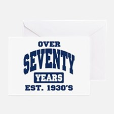 Over Seventy Years 70th Birthday Greeting Cards (P