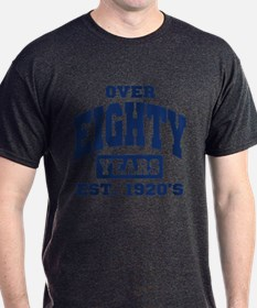 Over 80 Years 80th Birthday T-Shirt
