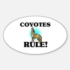 Coyotes Rule! Oval Decal