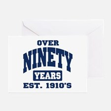 Over 90 Years 90th Birthday Greeting Cards (Pk of