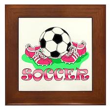 Soccer (Pink) Framed Tile