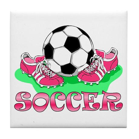 Soccer (Pink) Tile Coaster
