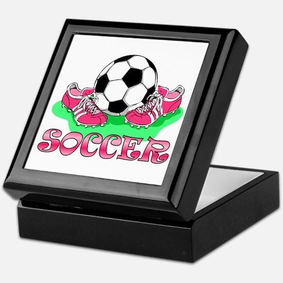Soccer (Pink) Keepsake Box