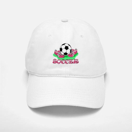 Soccer (Pink) Baseball Baseball Cap