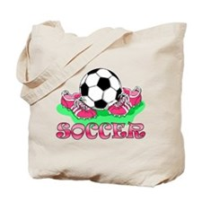 Soccer (Pink) Tote Bag