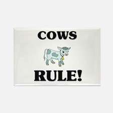 Cows Rule! Rectangle Magnet