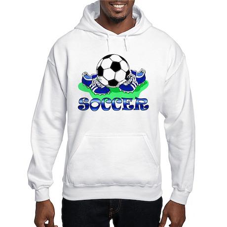 Soccer (Blue) Hooded Sweatshirt