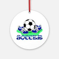 Soccer (Blue) Ornament (Round)