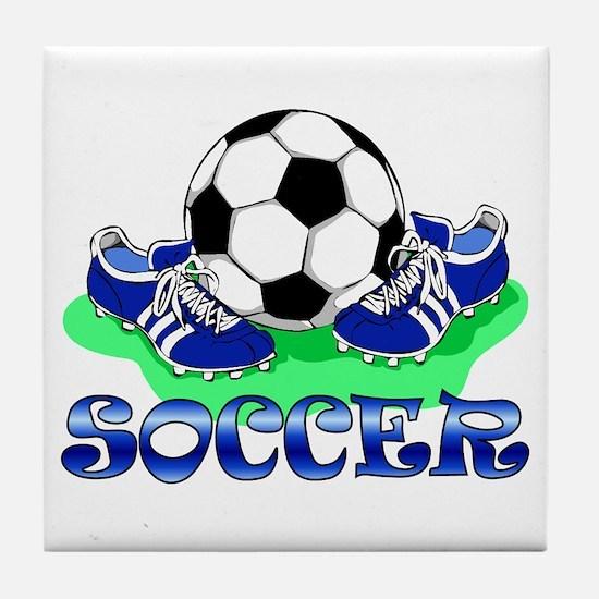 Soccer (Blue) Tile Coaster