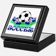 Soccer (Blue) Keepsake Box