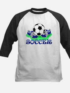 Soccer (Blue) Kids Baseball Jersey
