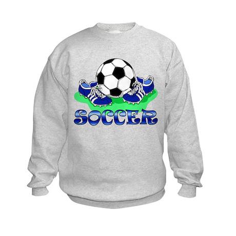 Soccer (Blue) Kids Sweatshirt