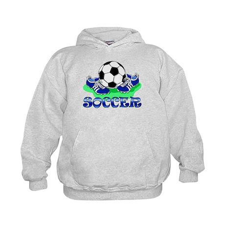 Soccer (Blue) Kids Hoodie