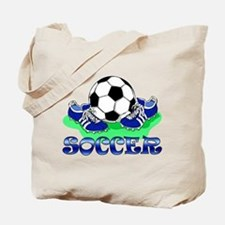 Soccer (Blue) Tote Bag