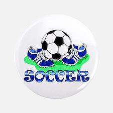 "Soccer (Blue) 3.5"" Button"