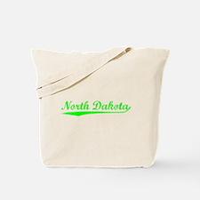 Vintage North Dakota (Green) Tote Bag