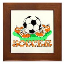 Soccer (Orange) Framed Tile
