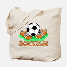Soccer (Orange) Tote Bag