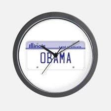 Illinois Supports Obama Wall Clock