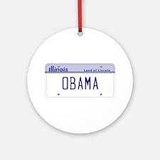 Illinois Supports Obama Ornament (Round)