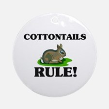 Cottontails Rule! Ornament (Round)
