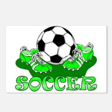 Soccer (Green) Postcards (Package of 8)