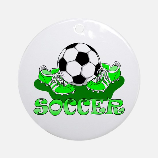Soccer (Green) Ornament (Round)