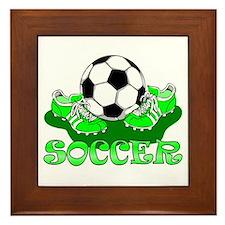 Soccer (Green) Framed Tile