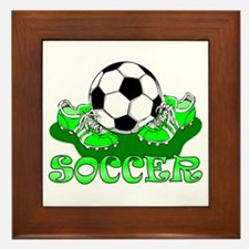 Soccer (Green) Framed Tile