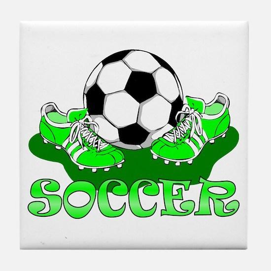 Soccer (Green) Tile Coaster