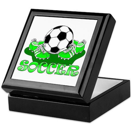 Soccer (Green) Keepsake Box