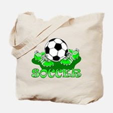 Soccer (Green) Tote Bag