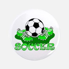 "Soccer (Green) 3.5"" Button"