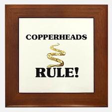 Copperheads Rule! Framed Tile