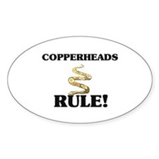 Copperheads Rule! Oval Decal